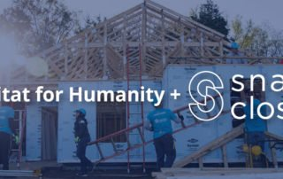 Habitat for Humanity and SnapClose Graphic
