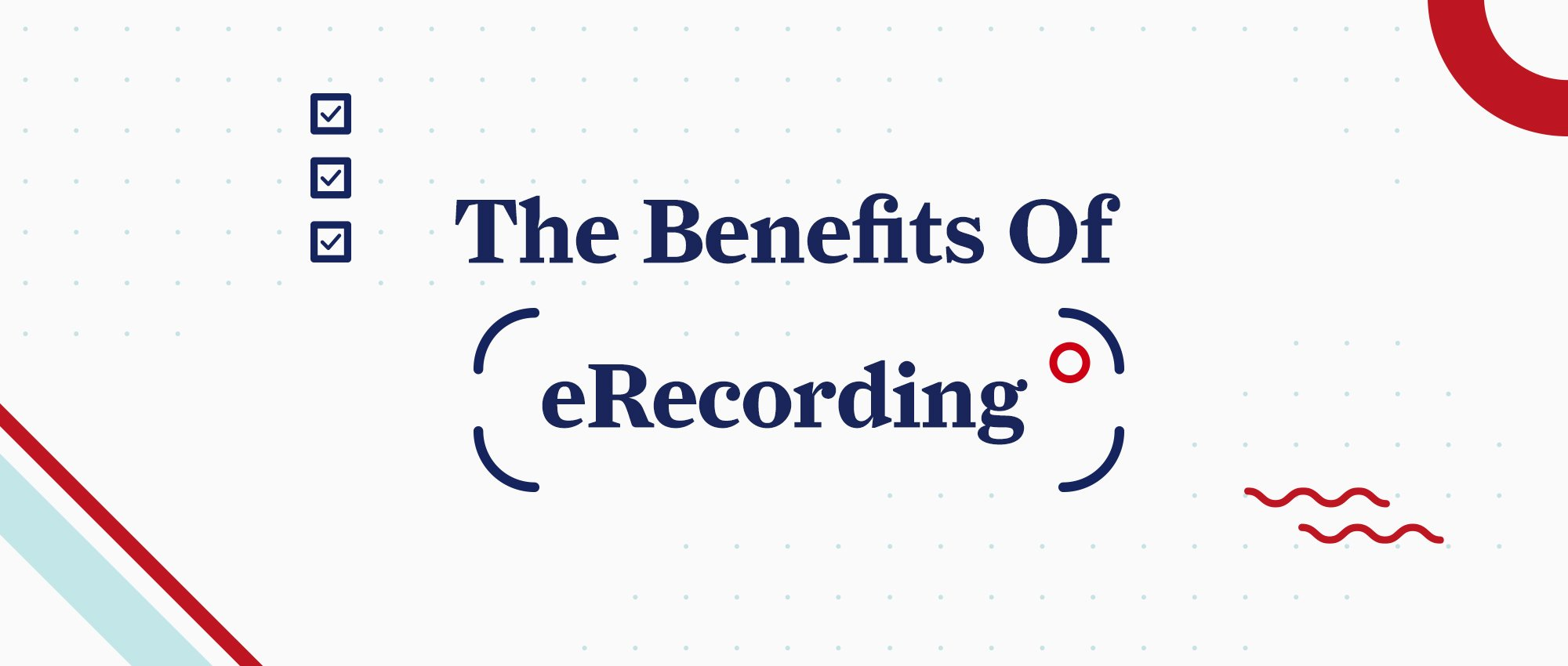 The Benefits of eRecording, graphic image inside a video