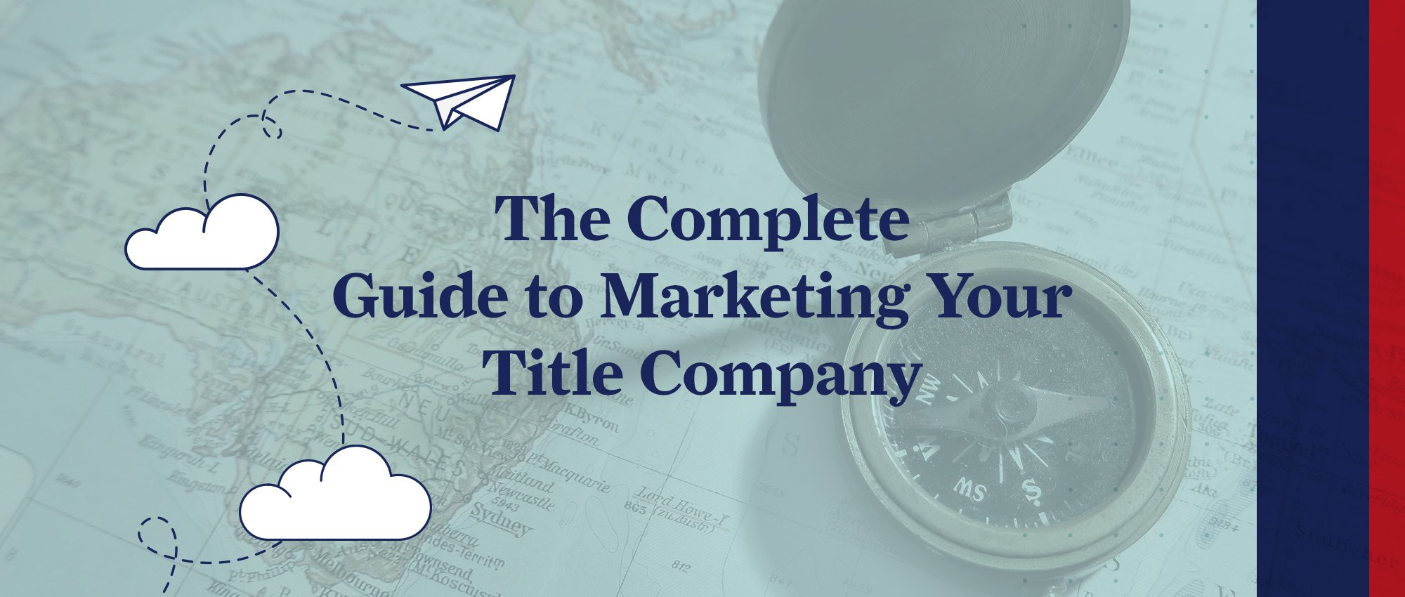 The Complete Guide to Marketing your Title Company - Graphic and Illustration of Clouds.